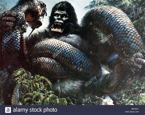 film anaconda vs kingkong king kong gorilla giant snake king kong 1976 stock