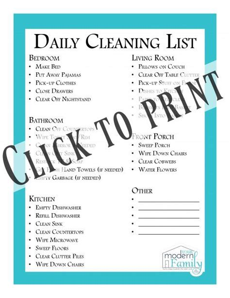 daily bedroom cleaning checklist 17 best ideas about daily cleaning on pinterest daily