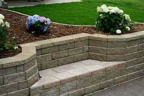 garden retaining wall bench retaining wall with bench seat outdoor at the