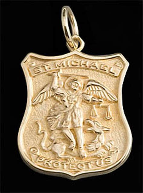 Patron Of Officers by St Michael Medal 14k Gold Patron Of By