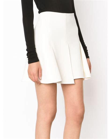 wang pleated mini skirt in white lyst