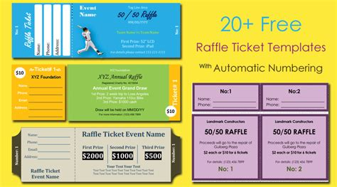 numbered ticket template free 20 free raffle ticket templates with automate ticket
