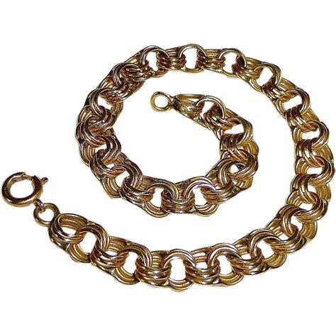 14k link starter charm bracelet from bejewelled on