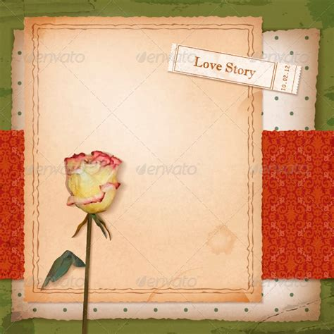 scrapbook layout powerpoint scrapbook old paper background with dried rose by kostins