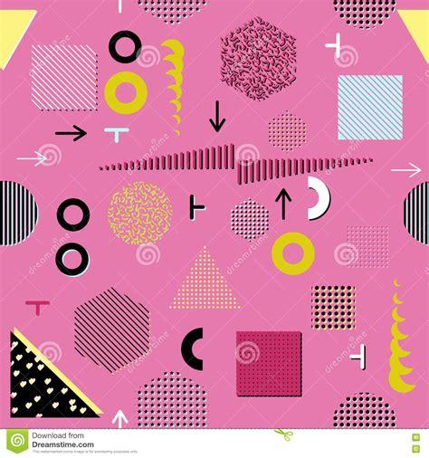 modern abstract design pattern stock photo trendy geometric elements memphis cards seamless pattern