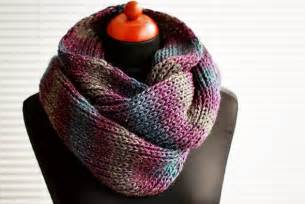 Knit Infinity Scarf Patterns Easy Diy Knit Infinity Scarf