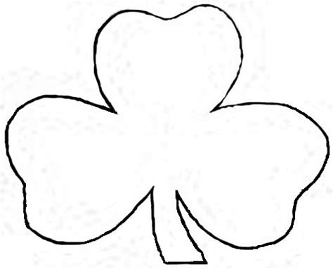printable shamrock template the gallery for gt shamrock coloring pages