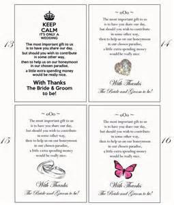 wedding gift money poem 100 poem cards or honeymoon money as wedding gift prints ebay