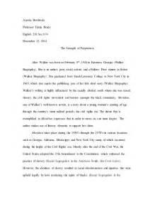 Walker Essays by Walker Essay 3 Complete