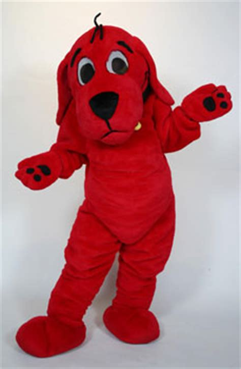 clifford the big characters clifford the big custom mascot costume rental custom mascots costume