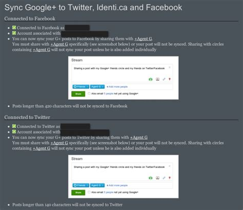 how to connect google plus to twitter and facebook youtube auto sync posts from google plus to facebook and twitter