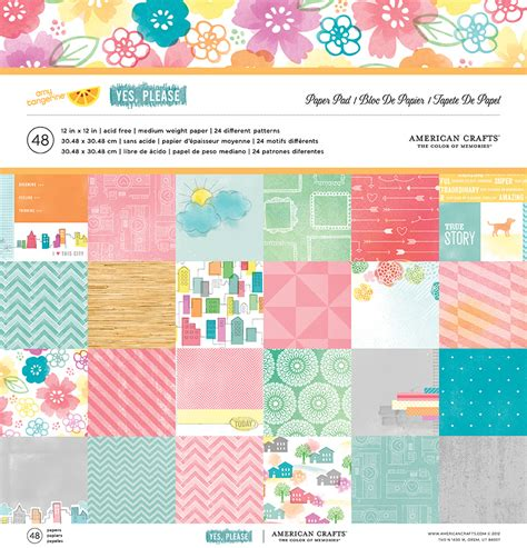 american crafts paper american crafts yes 12 x 12 paper pad