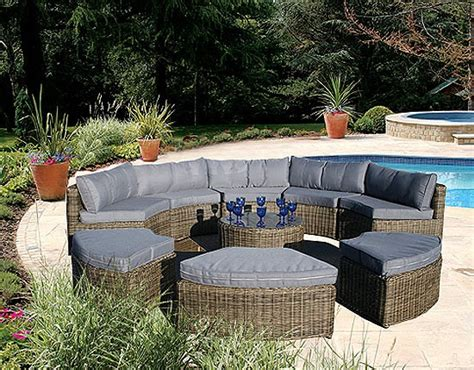 Curved Patio Furniture Set Curved Modular Rattan Garden Furniture Set 9 163 1 749 00