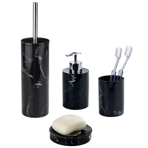 Black Bathroom Accessory Set Stunning Bathroom Accessory Sets Collections Home Design Ideas
