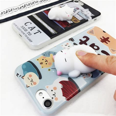 For Iphone 7 Squishy Cat Squeeze Soft Silicone C Limited squishy 3d cats phone cases for iphone 6 6s 6plus 7 7plus lovely cat claw soft silicone
