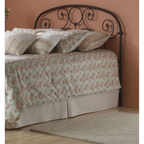 King Size Metal Headboard Fashion Bed Grafton California King Size Metal Headboard With Scrollwork Design And