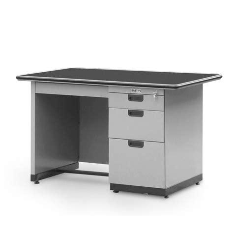 Meja Kantor Termurah meja kantor single pedestal desk alba sp 401 l 1 2