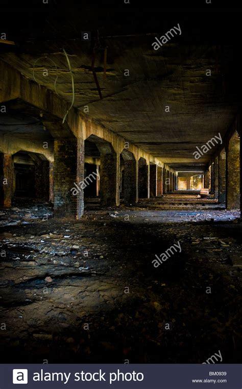 Derelict Coal Bunker In Large Building Stock Photo