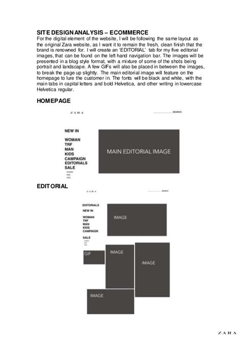 Zara Design Proposal | zara project proposal