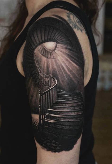 creepy tattoo designs creepy stairs best design ideas