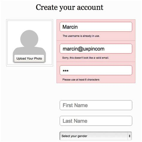 pattern validation phone the ultimate ux design of form validation tags ux