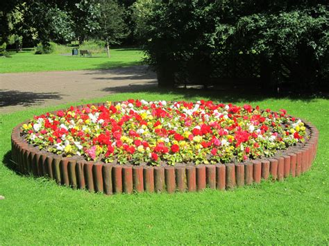 flower bed garden file flowerbed at st chad s gardens kirkby jpg
