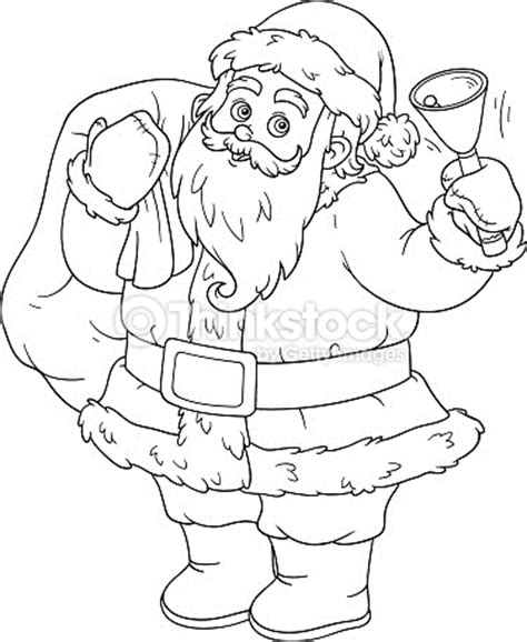 santa s view coloring book for everyone books coloring book for children santa claus and bell vector