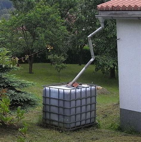 ein tank mit regenwasser ist ausreichend