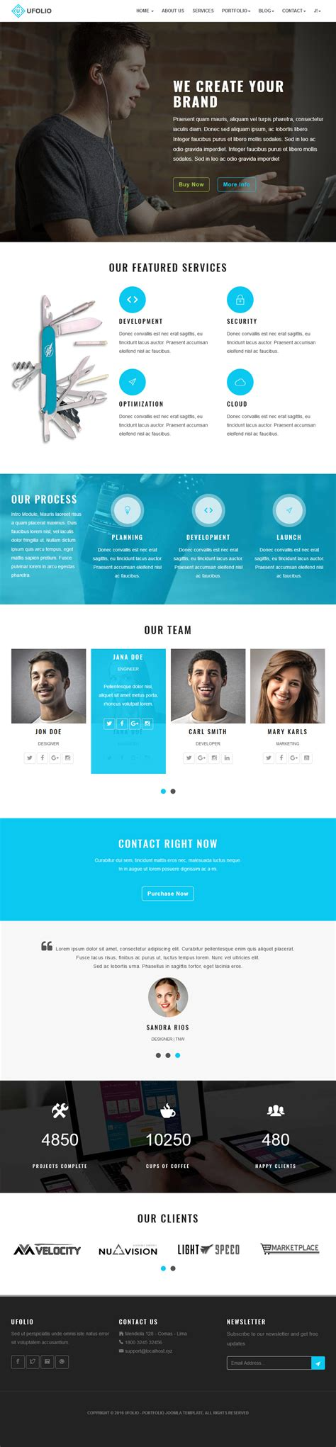 portfolio layout joomla ufolio portfolio joomla template themes templates