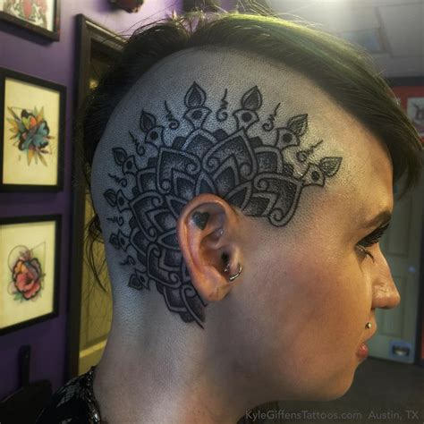 mandala head tattoo studio awesome mandala