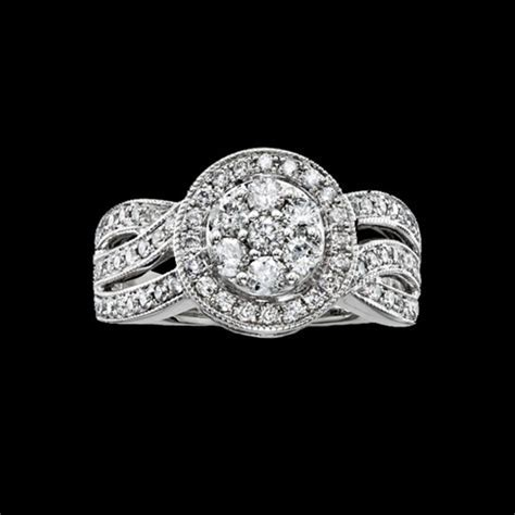 Curved Halo Diamond Engagement Ring   GraciousRose.com