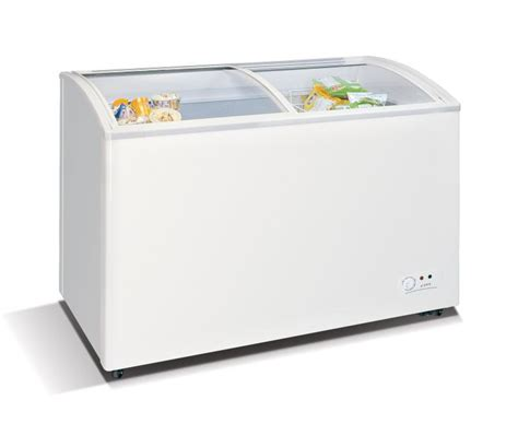 glass door chest freezer wd 330y chest freezer with slanting sliding and convexed