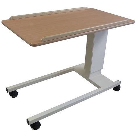 height adjustable assisted lift overbed chair table nrs healthcare