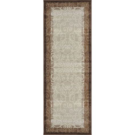 rug runners home depot home dynamix brown 2 ft 7 in x 7 ft 6 in indoor rug runner 4 hd4752 131 the