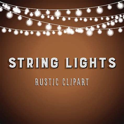 rustic string lights rustic string lights background premium clipart