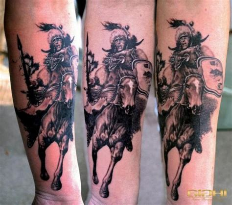 indian warrior tattoo arm realistic warrior indian by giahi