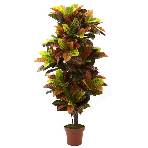 artificial croton plant potted