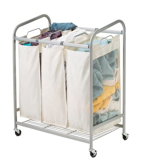 3 bag laundry 3 bag metal laundry sorter in silver wire shelf additions