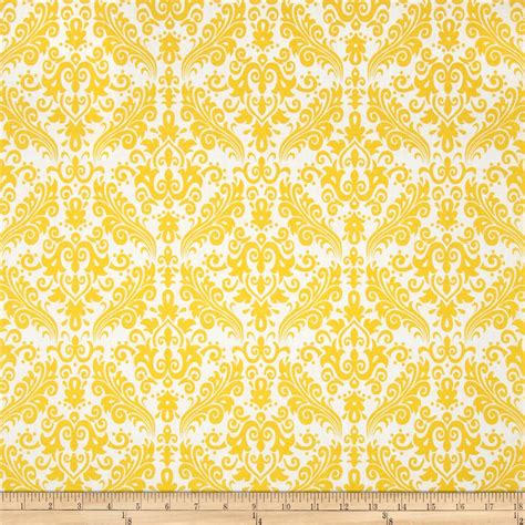 yellow pattern upholstery fabric riley blake medium damask white yellow discount designer
