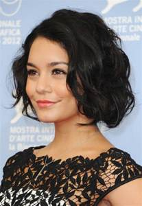bob haircuts black hair and wavy vanessa hudgens latest haircut short black wavy bob cut