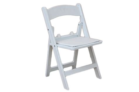 fancy white folding chairs kid white folding padded resin chair wow rentals