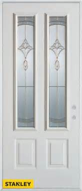 stanley doors 36 inch x 80 inch traditional 2 lite 2 panel