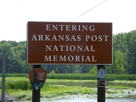 Picture Post Nation 7 by Sign On Road Entering The Site Picture Of Arkansas Post