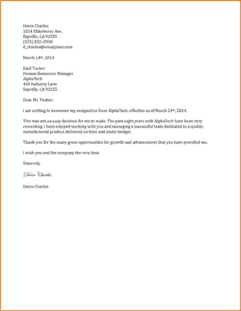 Resignation Letter Sle Microsoft Word 11 Exles Of Two Week Resignation Letters Lease Template
