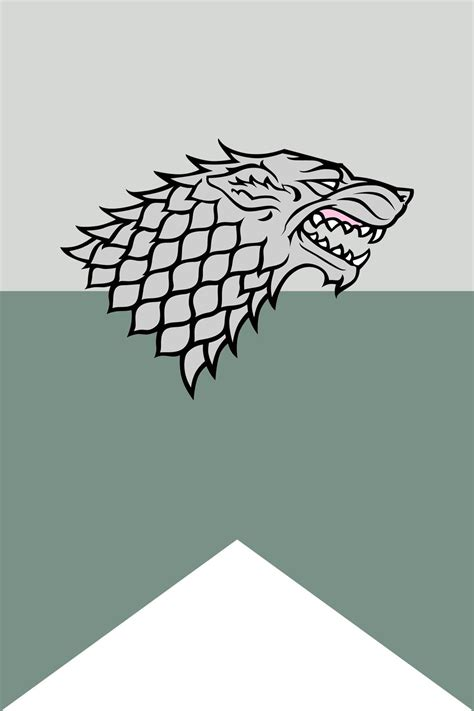 House Of Stark house stark flag poster by tailwindstudios on deviantart