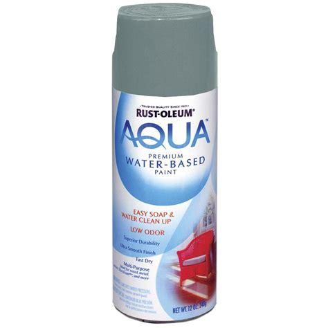 shop rust oleum aqua 12 oz gray flat spray paint at lowes