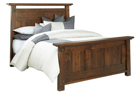 Rustic Bed by Amish Made Encada Rustic Bed From Dutchcrafters
