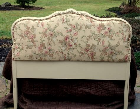 diy french headboard shabby chic upholstered headboard for painted vintage