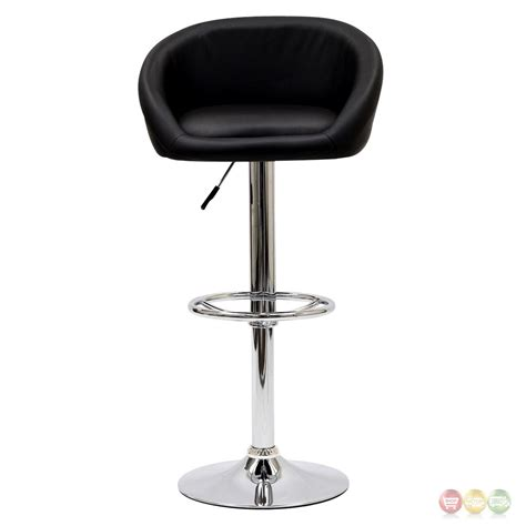 chrome bar stools with back marshmallow modern curbed low back vinyl bar stool w