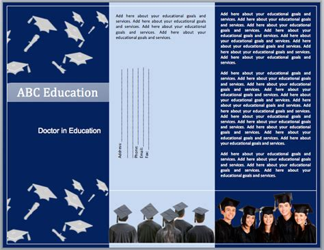educational templates educational brochure template format template